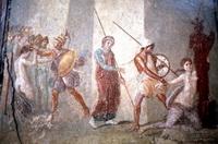 Аякс стаскивает Кассандру с Палладиума на глазах у Приама