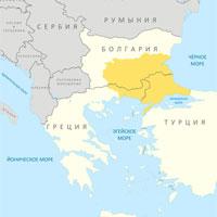 Фракия на политической карте