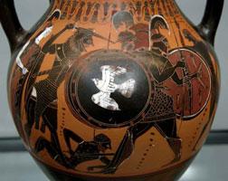 Геракл и Герион (аттическая чернофигурная амфора)
