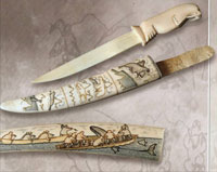 Декоративный нож с ножнами